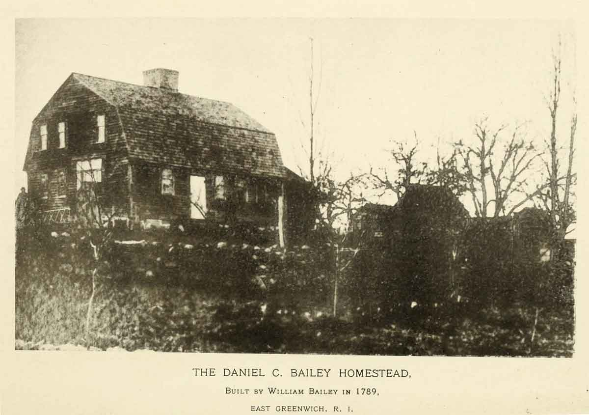 The Daniel C. Bailey house in East Greenwich, built by William Bailey in 1789.